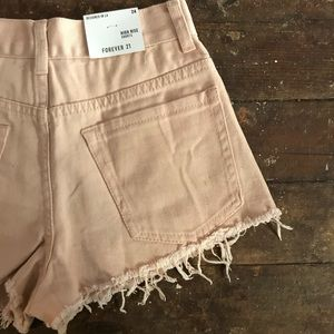 New Forever 21 Distressed High Rise Shorts 24